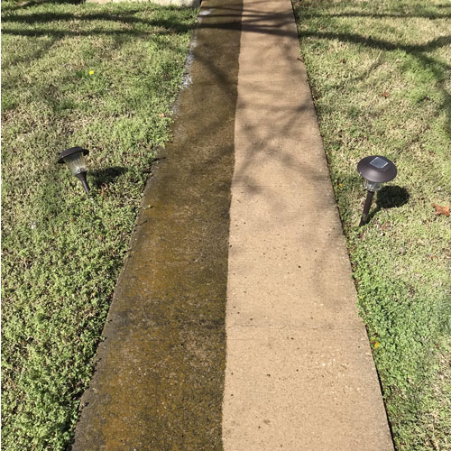Concrete Cleaning before after