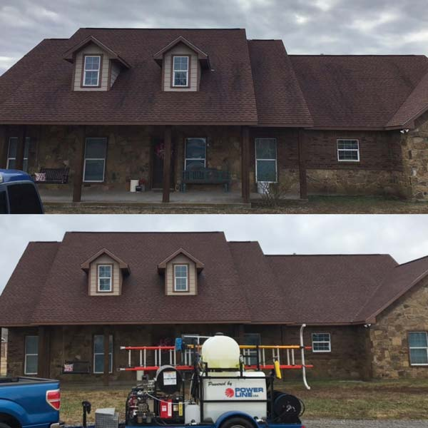 Roofing before and after